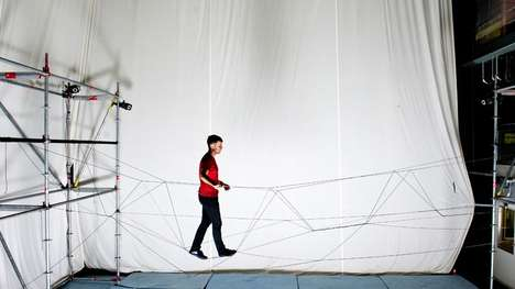 Drone-Built Bridges - This Heavy-Duty Rope Bridge Was Built By Autonomous Drones