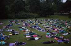These Outdoor Yoga Classes are Conducted in the Oakwood Cemetery