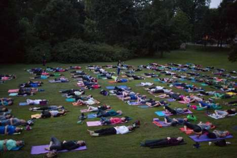 Cemetery Yoga Classes - These Outdoor Yoga Classes are Conducted in the Oakwood Cemetery