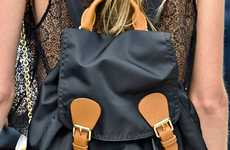 Versatile Haute Knapsacks - The Burberry Backpack was Ubiquitous on Its Fall Runway