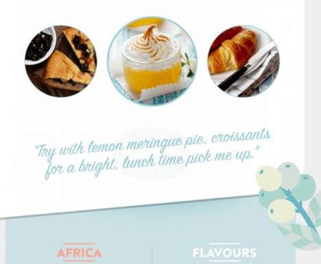 Coffee Food Pairing Charts - This Infographic Shares the Best Desserts to Enjoy with Various Coffees