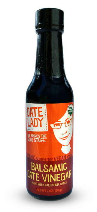 Vinegary Date Condiments - Date Lady's Flavored Balsamic Vinegar is Prepared with California Dates