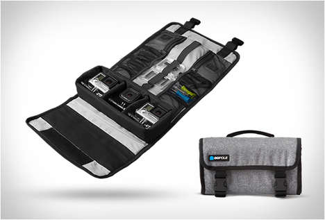 Weatherproof Camera Accessory Cases - These Roll-Up GoPro Cases Hold Three Cameras, Mounts and Poles
