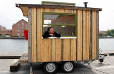 Portable Tiny Offices - This Tiny Office Makes Liberal Use of Reclaimed Materials