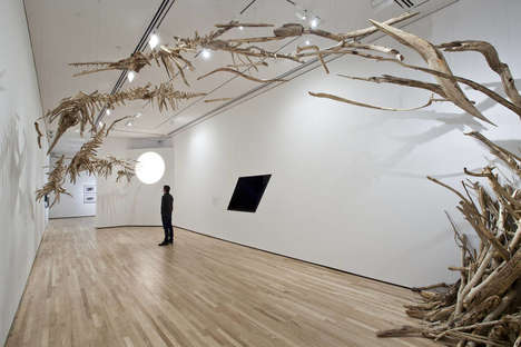 Suspended Skeleton Art - This Exhibit at the Baltimore Museum Features Fake Baiji Dolphin Bones
