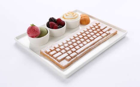 Computer-Themed Brunches - This Korean Cafe Serves Keyboard Waffles and Computer Mouse Bread