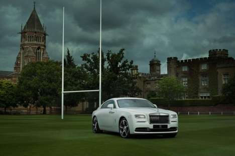 Rugby-Themed Cars - The Wraith Vehicle by Rolls-Royce Embodies Themes of the English Rugby Team