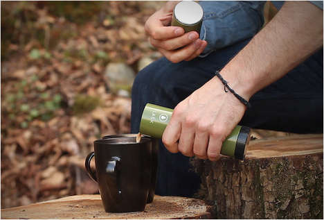 Dual-Purpose Flasks - This Camping Flashlight Doubles as a Flask That Holds an Opener and Shot Glass