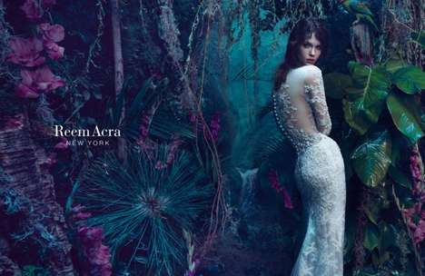 Enchanting Couture Campaigns - The Latest Reem Acra Advertorial Features Whimsical Scenery