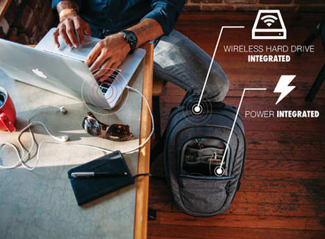 Data-Storing Smart Backpacks - The CO.ALITION Bag Has a Built-in Wireless Hard Drive and Charger