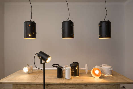 Espresso Boiler Lamps - These Light Fixtures are Made from Repurposed Boilers from Espresso Machines