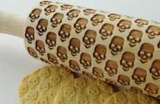 Embossed Rolling Pins - This Stylish Rolling Pin Design Adds a Skeletal Pattern to Baked Goods