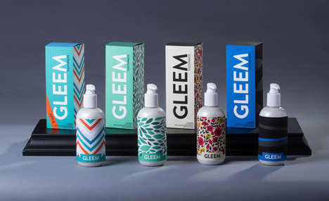 Toothpaste Pump Packaging - Gleem Toothpaste's Brand Identity is Vibrant and Convenient
