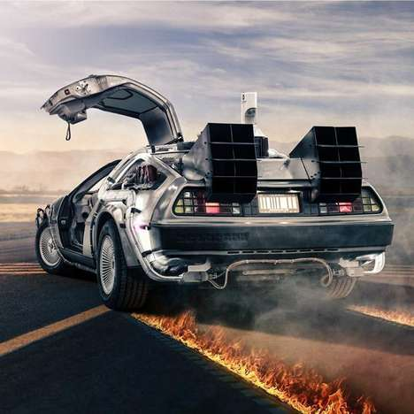 Time-Travelling Film Vehicles - This DeLorean Time Machine Replica is Fully Drivable and For Sale