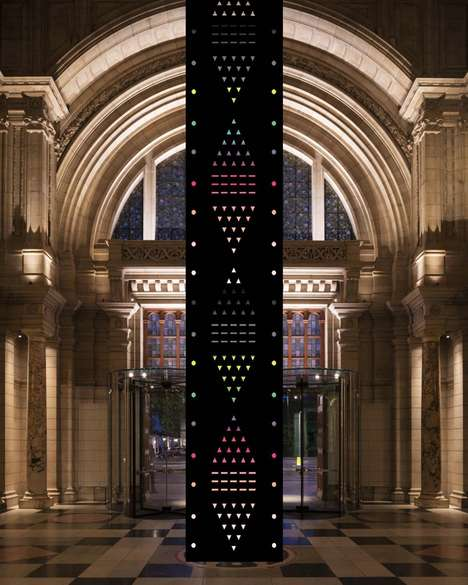 Crystal Totem Poles - The 'Zotem' Art Installation Uses Crystals to Animate a Bright Rainbow