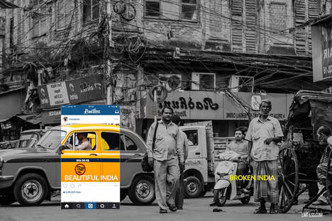 Contrasting Cropped Images - 'Broken India' Shows How Cropping Can Hide True Realities