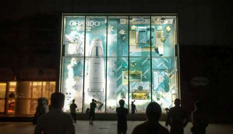 Homey Display Windows - Chando's Retail Window Display Recreates a Stylish Woman's Apartment