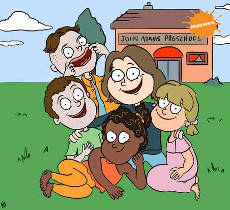 Crossover Sitcom Illustrations - These Buzzfeed Drawings Display 90s Sitcoms as Nickelodeon Shows
