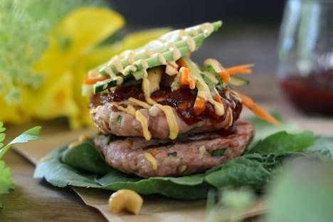 Bunless Thai Burgers - These Paleo Pork Burgers are Infused with Sweet Chili Sauce