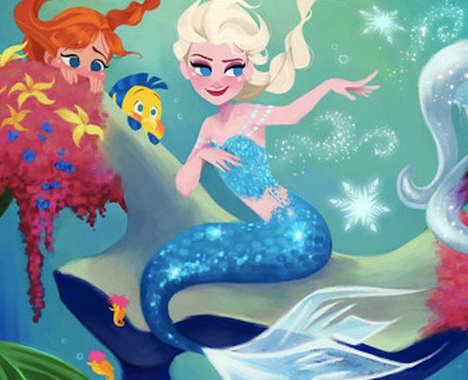 Role-Swapped Disney Princesses