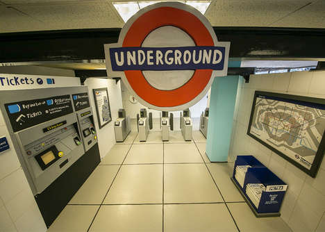 Wooden Subway Replicas - This Artist Created a Wooden and Hand-Painted London Subway Tribute