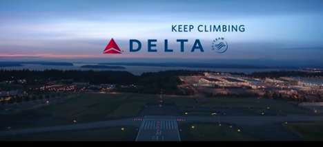 Riveting Airline Ads - This Delta Airlines Ad Provides a Powerful Auditory Experience