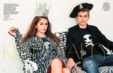 Supermodel Offspring Editorials - This Editorial Spread Features Model Cindy Crawford's Children