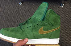 Green Suede Sneakers - These Air Jordan 1 Green Crocs Were Debuted By Michael Jordan's Daughter