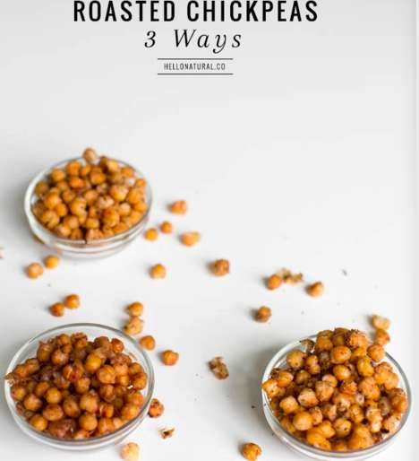 Cinnamon Chickpea Snacks - These Roasted Chickpea Treats are a Healthy Snack to Enjoy