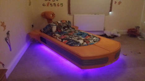 Sci-Fi Beds - This Star Wars Landspeeder Bed Was Made By Father For Son