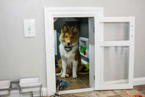 DIY Built-In Dog Kennels - This Unique Dog Kennel is Cleverly Built Under the Stairs