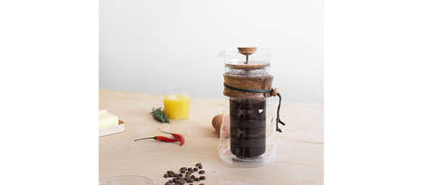 Lab-Quality French Presses - This French Press from Hario is Made with an Olive Wood Finish