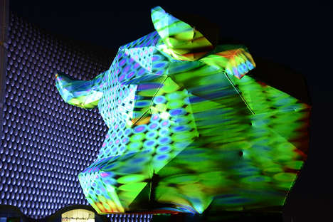 3D Disco Bull Art - Josh Harker's Disco Bull Head is an Innovative Piece of Illuminated 3D Art
