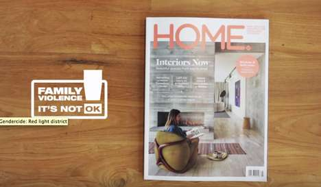 Hidden Domestic Abuse Marketing - This Home Decor Magazine Will Make You Take a Second Look