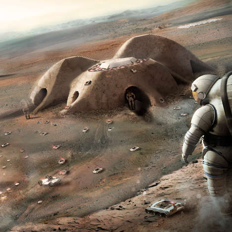 Planetary 3D-Printed Settlements - Foster + Partners Unveiled a Space Habitat Suggestion for NASA
