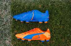 Dual-Colored Soccer Cleats