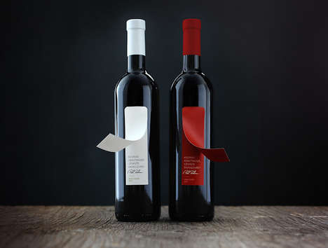 Peel-Off Wine Labels - This Simple Wine Label Conceals Additional Information