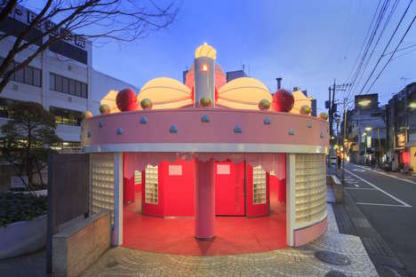 Dessert-Decorated Restrooms - This Giant Cake Bathroom is Part of a Japanese Toilet Festival