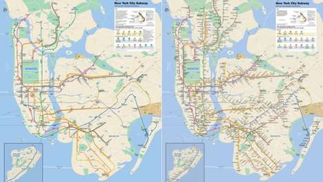 Wheelchair-Focused Transit Maps - This New York Subway Map Highlights Difficulties for the Disabled