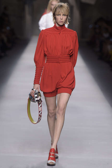 Avant-Garde Renaissance Couture - The Fendi Spring/Summer Collection Makes 19th Century Style Modern