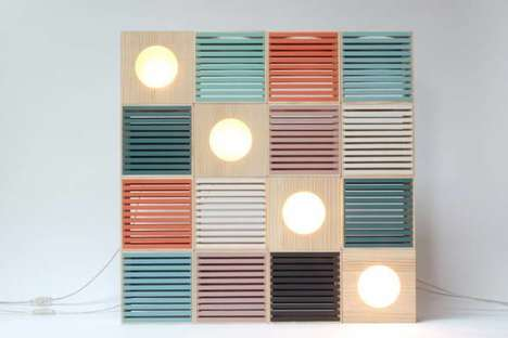 Upcycled Wooden Lamps - These Pastel Light Boxes are Made from Reclaimed Wood