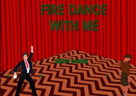 Surreal Cult Show Games - This Twin Peaks Dancing Game is Based on Iconic Scenes from the TV Show