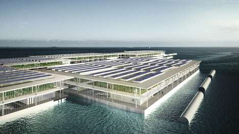 Triple-Decker Floating Farms - This Smart Floating Farm Could Address Severe Food Issues