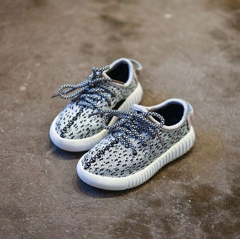 Rapper-Inspired Kids Footwear - These Yeezy Baby Boost Sneakers are Adorable and Stylish