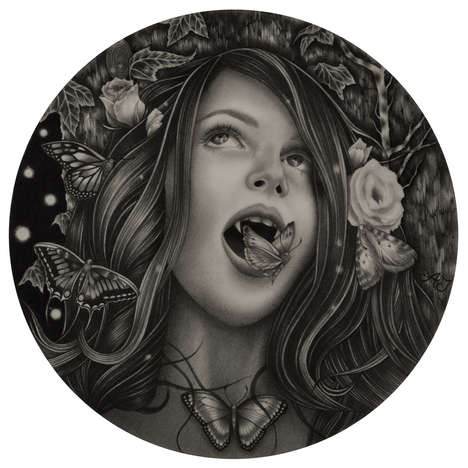 Graphite Vampire Portraits - These Vampire-Inspired Drawings Subtly Hint Towards the Supernatural