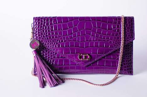 Celebrity-Designed Charity Bags - This Kerry Washington Accessory Supports the Purple Purse Campaign