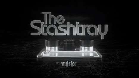 Luxe Cannabis Accessories - The Stashtray is a Magnetized Tray Complete with Luxury Marijuana Items