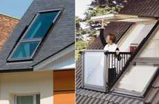 Balcony Skylight Hybrids - This Skylight Easily Turns Into a Balcony in Just a Few Seconds