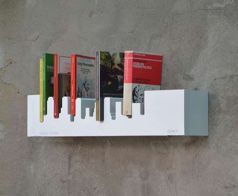 City Skyline Shelves - This Floating Shelf is Structured to Look Like the New York City Horizon