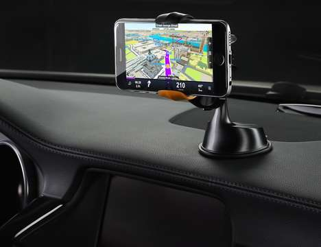 Universal Smartphone Mounts - The Dash Grab Phone Mount Hooks a Cellphone Up to Any Surfance